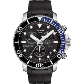 Tissot Seastar 1000 Quartz Chronograph Schwarz / Blau