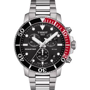 Tissot Seastar 1000 Quartz Chronograph Schwarz / Rot