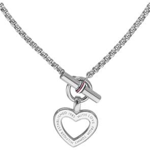 Tommy Hilfiger Halskette mit Herzanhänger Silbrig