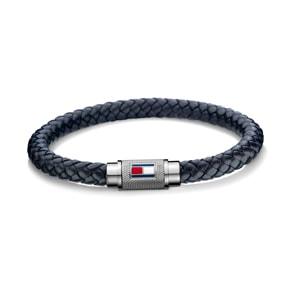 Tommy Hilfiger Bracelet en Cuir Bleu