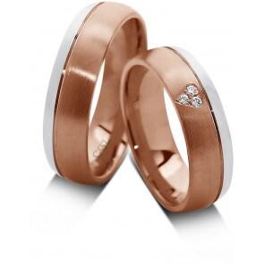 14 Karat / 585 Rosé-/Weissgold