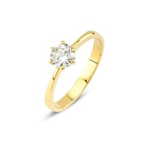 Verlobungsring 750/18 K Gelbgold mit Diamant 0.51 ct H/si