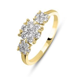 Verlobungsring 750/18 K Gelbgold mit Diamanten 0.50 ct H/si by CHRISTIAN