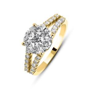 Verlobungsring 750/18 K Gelbgold mit Diamanten 1.00 ct H/si by CHRISTIAN