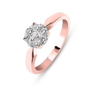 Verlobungsring 750/18 K Roségold mit Diamanten 0.33 ct H/si by CHRISTIAN