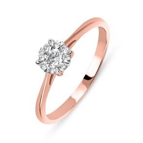 Verlobungsring 750/18 K Roségold mit Diamanten 0.40 ct H/si by CHRISTIAN