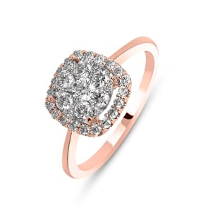 Verlobungsring 750/18 K Roségold mit Diamanten 0.50 ct H/si by CHRISTIAN