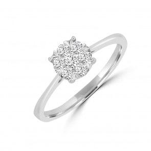 Verlobungsring 750/18 K Weissgold mit Diamanten 0.25 ct H/si by CHRISTIAN