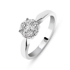 Verlobungsring 750/18 K Weissgold mit Diamanten 0.33 ct H/si by CHRISTIAN