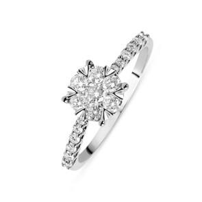 Verlobungsring 750/18 K Weissgold mit Diamanten 0.50 ct H/si by CHRISTIAN