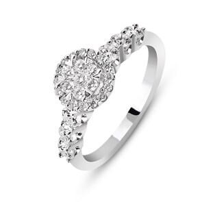 Verlobungsring 750/18 K Weissgold mit Diamanten 0.75 ct H/si by CHRISTIAN