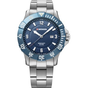 Wenger Seaforce Diver Silbrig / Blau Ø 43mm
