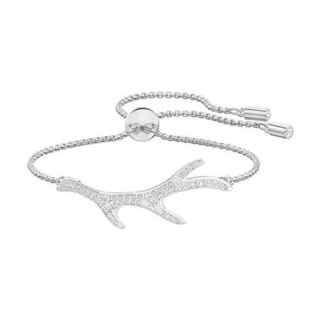 Swarovski Bracelet Polar Bestiary, blanc, métal rhodié