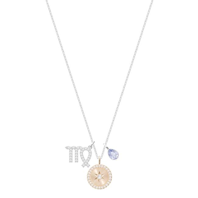 Swarovski Collier Zodiaque, Vierge, mauve, métal rhodié