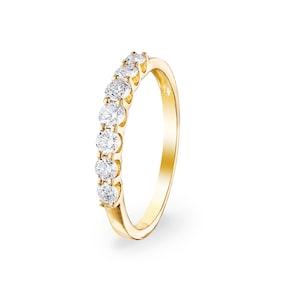 0.50 carats diamants bague mémoire 750/18 K or jaune