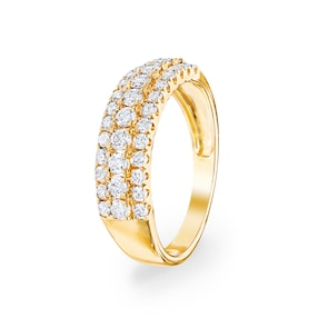 0.76 carats diamants bague 750/18 K or jaune