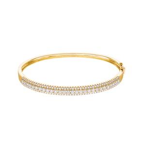 2.01 carats diamants bracelet jonc 750/18 K or jaune