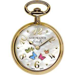 Aerowatch Montre de poche Pendentif Butterfly Ø 32mm