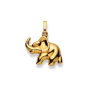 Pendentif 750/18 K or jaune, Éléphant