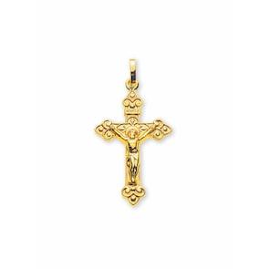 Pendentif 750/18 K or jaune, Croix