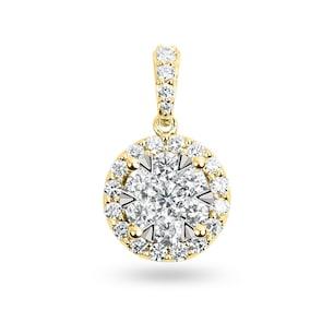 Pendentif 750/18 K or jaune avec diamants 0.75 ct H/si by CHRISTIAN