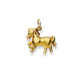 Pendentif 750/18 K or jaune, Cheval
