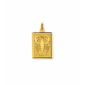 Pendentif 750/18 K or jaune, Signe du zodiaque Cancer