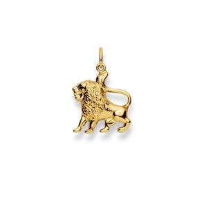 Pendentif 750/18 K or jaune, Signe du zodiaque Lion