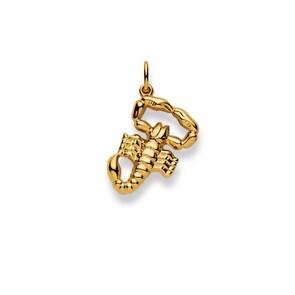Pendentif 750/18 K or jaune, Signe du zodiaque Scorpion