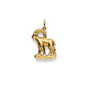 Pendentif 750/18 K or jaune, Signe du zodiaque Capricorne