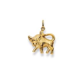 Pendentif 750/18 K or jaune, Signe du zodiaque Taureau