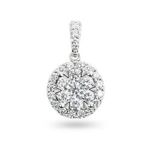 Pendentif 750/18 K or gris avec diamants 0.75 ct H/si by CHRISTIAN