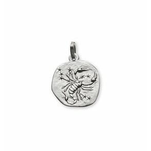 Pendentif 750/18 K or gris, Signe du zodiaque Scorpion