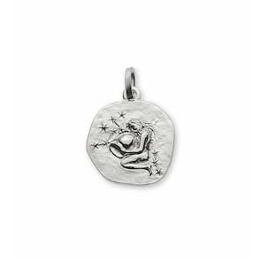 Pendentif 750/18 K or gris, Signe du zodiaque Verseau