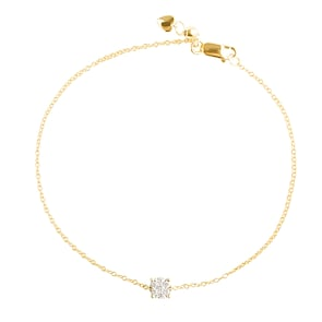 Bracelet 750/18 K or jaune avec diamants 0.11 ct H/si