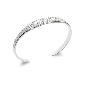Bracelet Jonc Quantum Argent 925 avec motifes Ø 62mm