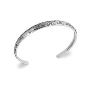 Bracelet Jonc Quantum Argent 925 avec Ornement Ø 62mm