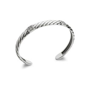 Bracelet Jonc Quantum Argent 925 orné Ø 62mm