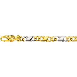 Bracelet carrera poli 750/18 K bicolore 5.0mm - 22cm