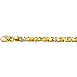 Bracelet carrera satiné 750/18 K or jaune 5.0mm - 22cm