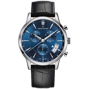 Claude Bernard Classic Chronographe Bleu / Noir