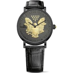 Corum Artisans Coin Watch Black Silver C082/03956