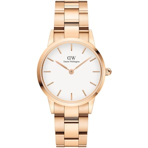Daniel Wellington Iconic Link 28 Rose Gold White