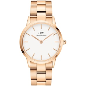 Daniel Wellington Iconic Link 36 Rose Gold White