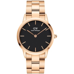 Daniel Wellington Iconic Link 36 Rose Gold Black