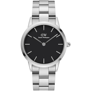 Daniel Wellington Iconic Link 36 Silver Black