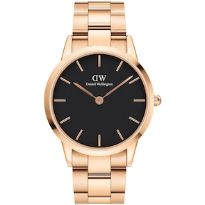 Daniel Wellington Iconic Link 40 Rose Gold Black