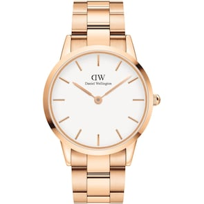 Daniel Wellington Iconic Link 40 Rose Gold White