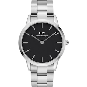 Daniel Wellington Iconic Link 40 Silver Black