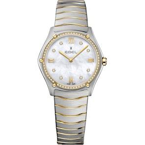 Ebel Sport Classic Lady Diamonds Bicolore / Nacre Blanche 33mm